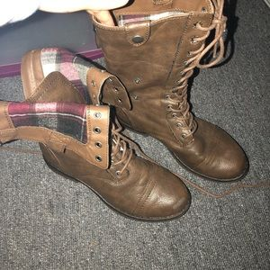 Madden Girl lace combat boots